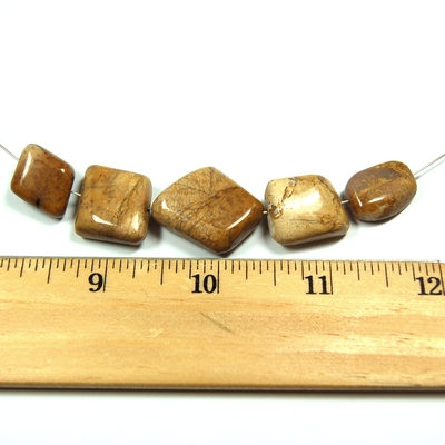 Discontinued - Picture Jasper Beads (India)