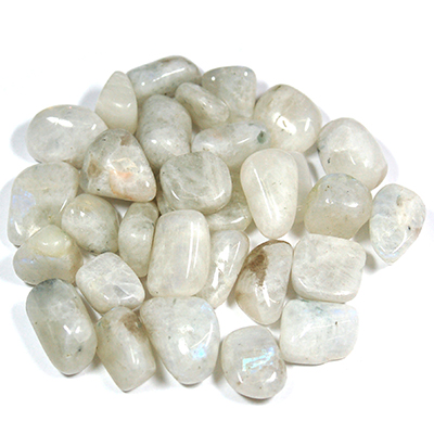 Tumbled Rainbow Moonstone (India) - Tumbled Stones