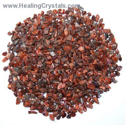 Tumbled Red Tiger Eye Chips (Africa)