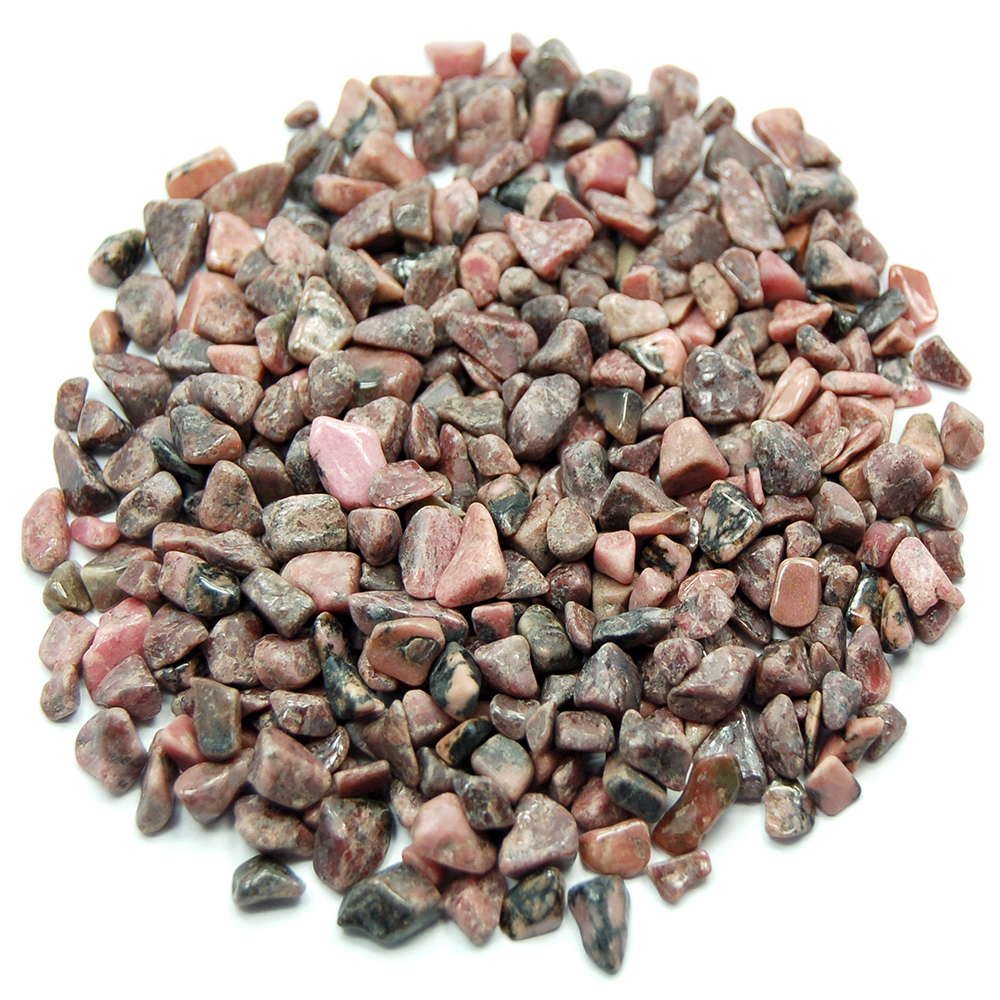 Discontinued - Tumbled Rhodonite Chips (Madagascar)