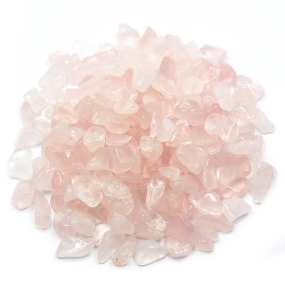 "Tumbled Rose Quartz Mini Chips ""Lt. Pink"" (India)"
