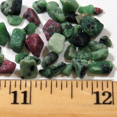 Tumbled Ruby in Zoisite Chips (India)