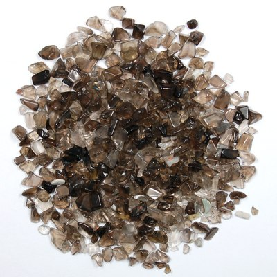 "Tumbled Smokey Quartz Chips ""Dark\"" (India)"