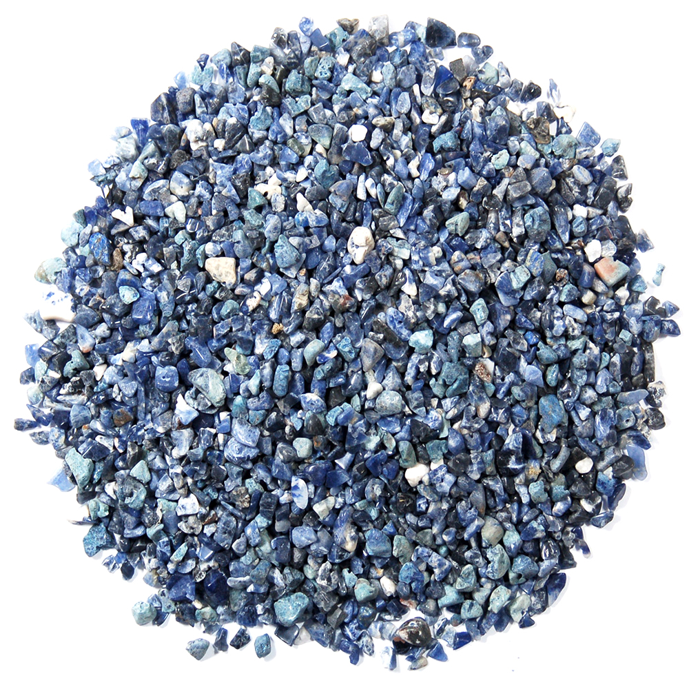 Tumbled Sodalite Chips (Africa)