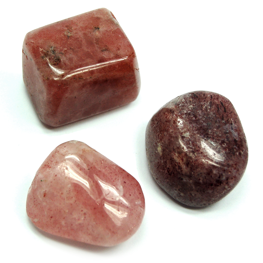 Tumbled Strawberry Quartz - Tumbled Stones (India)