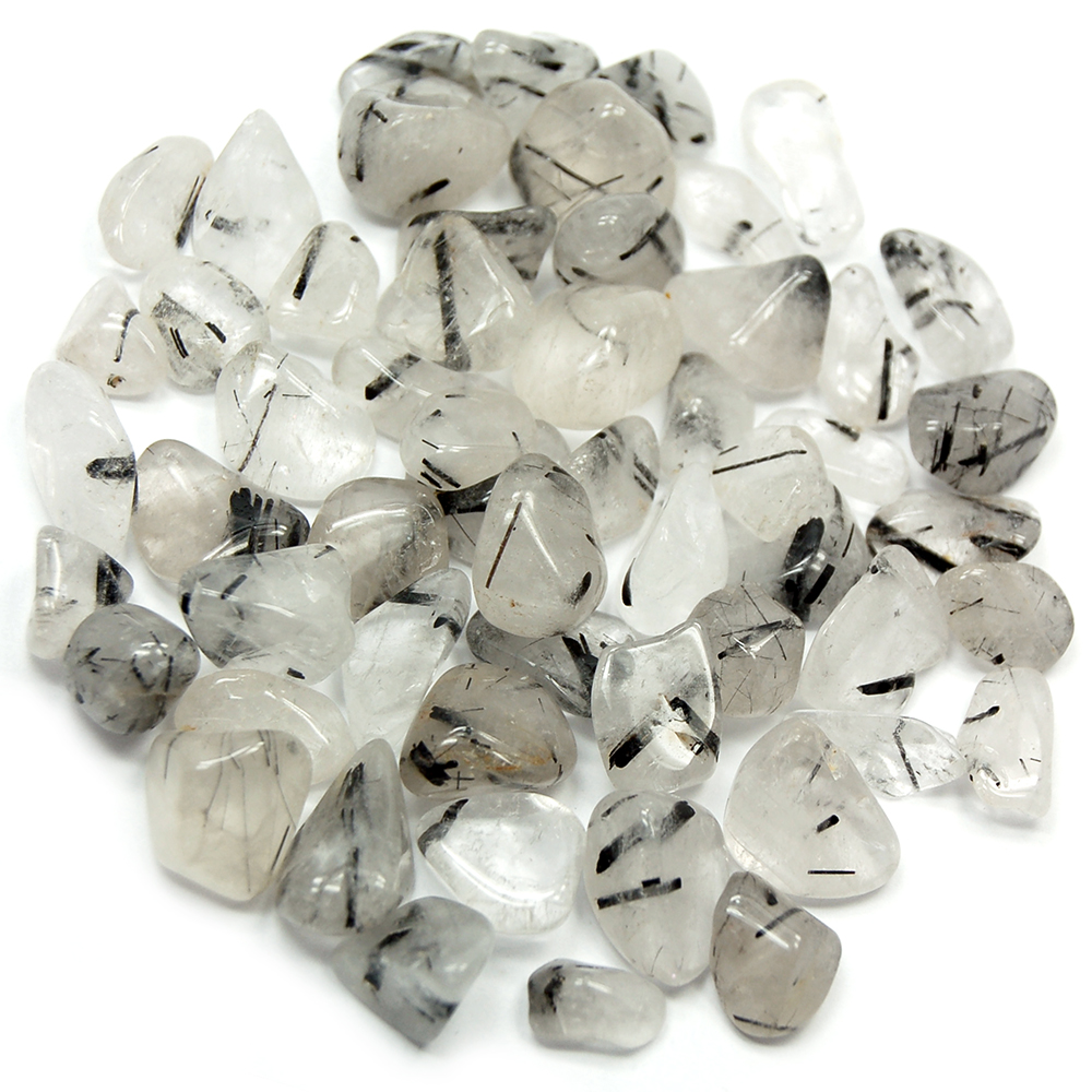 Tumbled Tourmalated Quartz (Brazil) - Tumbled Stones