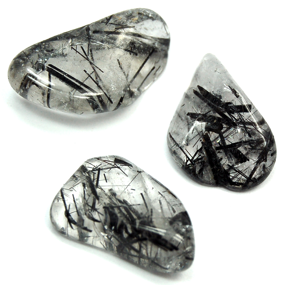 Tumbled Tourmalated Quartz Crystals
