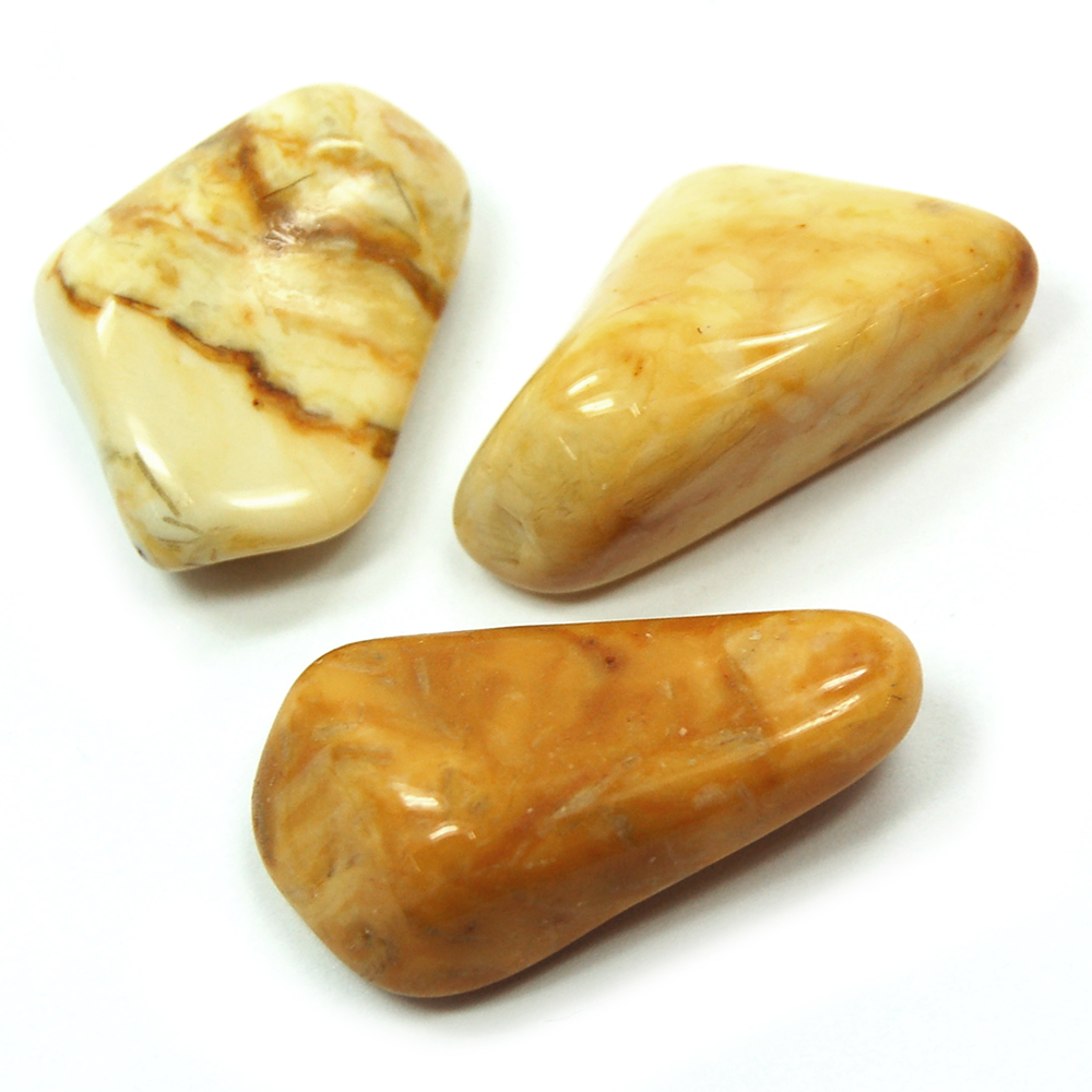 Tumbled Yellow Jasper
