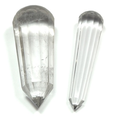 Vogels - 12-Facet Clear Quartz Vogel Massage ST Wands (Brazil)
