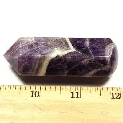 Wand - Banded Amethyst 6-Sided Massage Wands (China)