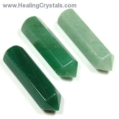 Wand - Green Aventurine 6-Sided Massage Wands (China)