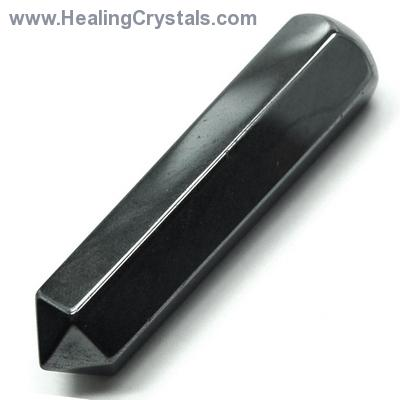 Wand - Hematite 6-Sided Massage Wands (China)