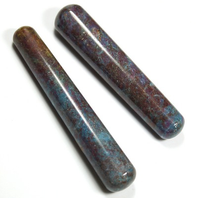 Wand - Ruby in Blue Kyanite Massage Wands (India)