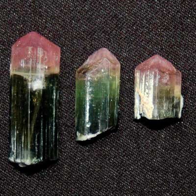 Tourmaline - Watermelon Tourmaline Naturally Terminated Rods
