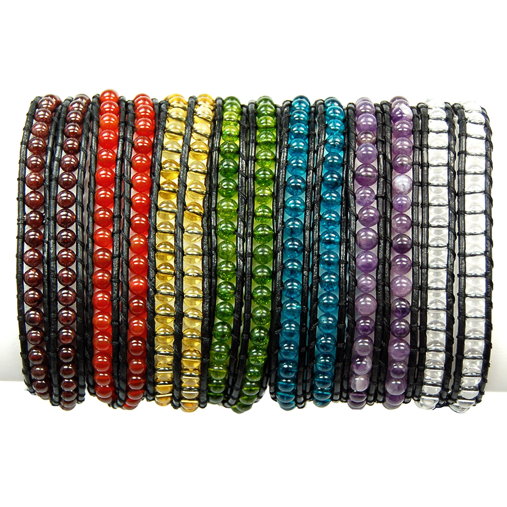 "Discontinued - 7pc. Chakra ""Chan Luu"" Style 3mm Bracelet Set"