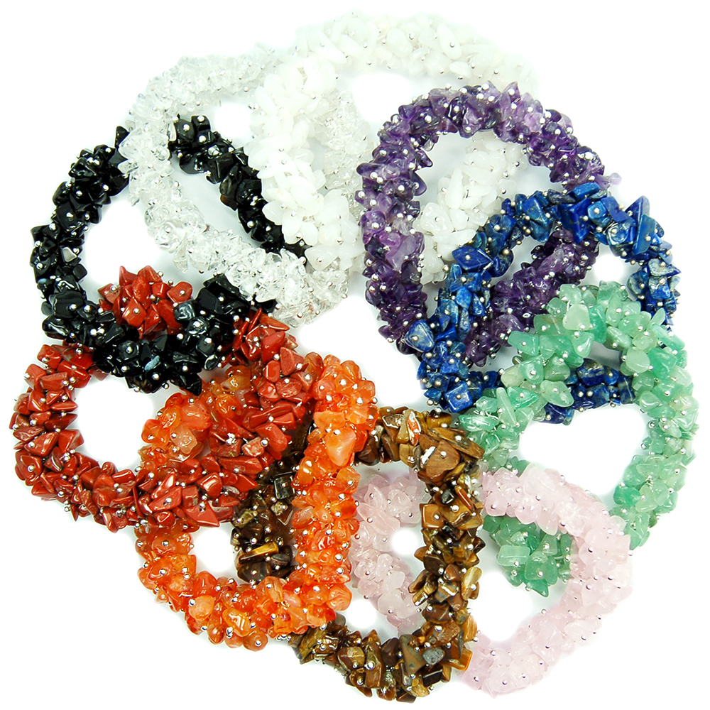 Wholesale - Chakra Cluster Bracelets Set (100pcs.)