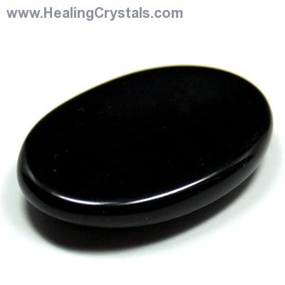Worry Stones - Black Agate Worry Stone (India)