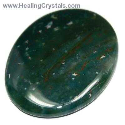 Worry Stones - Bloodstone Worry Stone (India)