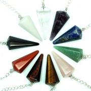 CLEARANCE - Chakra 6-Facet Pendulum Assortment #2 (India)