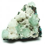Apophyllite - Green Apophyllite Clusters w/Matrix (India)