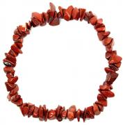 Bracelets - Red Jasper Single Strand Bracelet (South Africa)