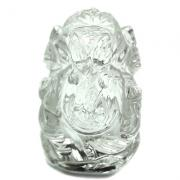Carved Ganesha Idol - Clear Quartz Ganesha Idol (India)