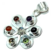 Chakra Pendants - Flower Cabochon Pendants (India)