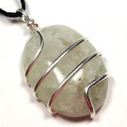 Pendants - Rainbow Moonstone Cabochon Pendant (Wrapped) (India)