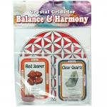Crystal Grid Kit - Grounding Grid Kit w/Red Jasper (10pcs.)