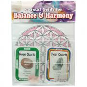 Crystal Grid Kit - Love Grid Kit w/Rose Quartz (10pcs.)