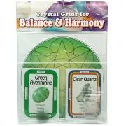 Crystal Grid Kit - Prosperity Grid w/Green Aventurine (12pcs.)