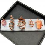 Hand Wrap Copper Coil Wire Pendant
