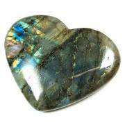 Hearts - Labradorite Heart (India)