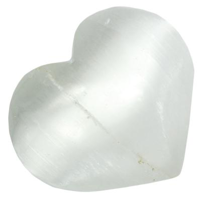 Hearts - Selenite Heart (Morocco)