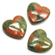 Hearts - Unakite Heart (India)