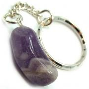 Discontinued - Tumbled Amethyst Keychain - 5pcs.