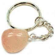 Tumbled Rose Quartz Keychain