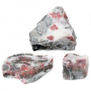 Natural Cinnabar Chunks in Matrix