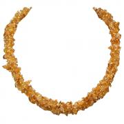 Necklaces - Citrine Cluster Necklace (India)