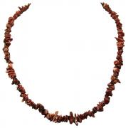 CLEARANCE - Red Jasper Tumbled Chips Necklace