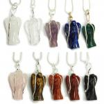CLEARANCE - Pendants - Chakra Wire Wrapped Angel Pendant (India)