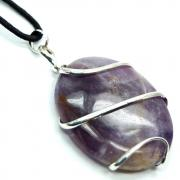 Pendants - Amethyst Wrapped Cabochon Pendant (India)