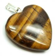 CLEARANCE - Golden Tiger Eye Heart Pendant