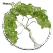 DISCONTINUE - Tree of Life Pendant - Peridot (India)