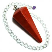 CLEARANCE - Pendulum - Red Jasper 6-Facet Pendulums (India)