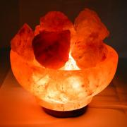 Rock Salt Fire Bowl Lamp (Pakistan)
