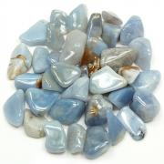 "Tumbled Blue Chalcedony (Brazil)""Extra/A"" - Tumbled Stones"