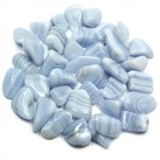 "Tumbled Blue Lace Agate ""Extra"" (India) - Tumbled Stones"