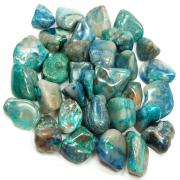 CLEARANCE - Tumbled Chrysocolla w/Quartz (Peru)