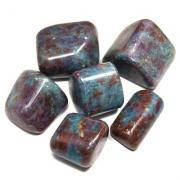 Tumbled Ruby in Blue Kyanite (India) - Tumbled Stones